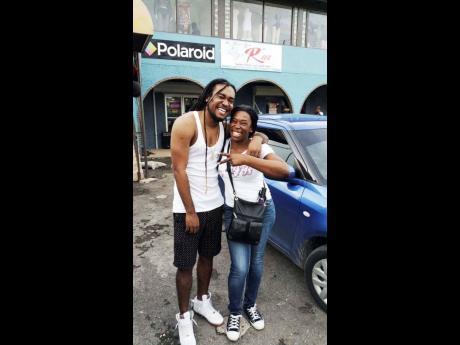 Zagga (left) and his mother, Sharrol Coke.