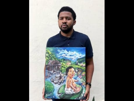 Malcolm Walker with one of his pieces.