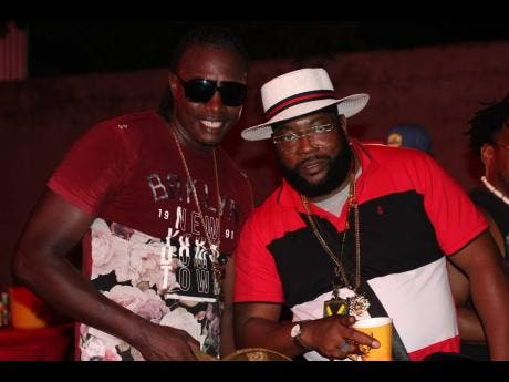 Dancehall deejays Expensive and Harry Toddler were out promoting their' Space Dem' single at the first Uptown Mondays for the summer.