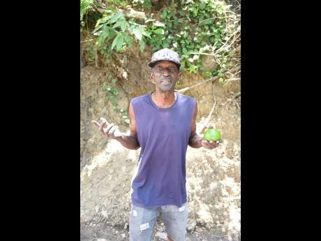 Steve Griffiths said that with the affected sections of the Gordon Town main road being rehabilitated, he is no longer forced to walk all the time or take the longer alternative route.